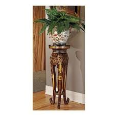 Pedestal Accent Tables Pedestal Plant Stand Tall Accent Table Elephant Sculpture Display
