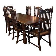 Furniture In Dining Room Vintage Used Dining Table Chair Sets Chairish
