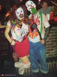 evil killer clowns couple u0027s halloween costume