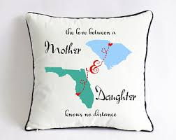 long distance mom daughter pillow case mom birthday