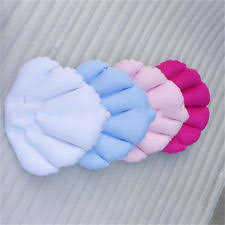 soft home spa inflatable bath pillow cups shell shaped neck