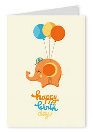 little elephant coming to you happy birthday cards send real
