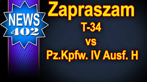 zapraszam na 15 vs 15 t 34 vs pz4 news world of tanks youtube