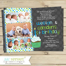 first birthday invitation wordings for baby boy twins first birthday invitation