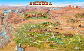 us map arizona state large detailed tourist attractions panoramic map of northern