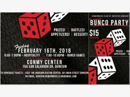 bunco party feb 16 newcomers club of greater dunedin 4th annual bunco party