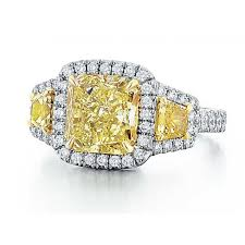 stone rings style images Fancy yellow diamond three stone style ring halo style jpg