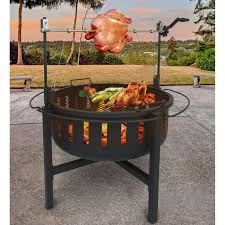 Firepit Grills Landmann Rock Pit And Grill With Rotisserie Walmart