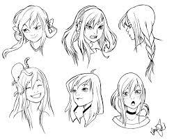 resultado de imagen para manga face expressions how2draw