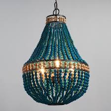 wood bead ceiling light turquoise wood bead beaded 3 light chandelier teardrop pendant l