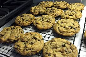 fresh from the oven chocolate chip cookies oc food