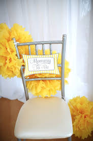 yellow baby shower ideas best 25 baby shower chair ideas on baby shower