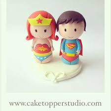 woman cake topper wedding cake topper superman and woman cake topper