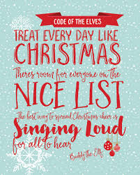 Buddy The Elf Christmas Decorations Code Of The Elves Christmas Decoration Print Buddy The Elf Quote