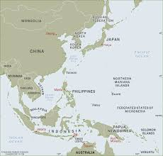 Southern And Eastern Asia Map by East Asia To West Pacific Cartogis Services Maps Online Anu