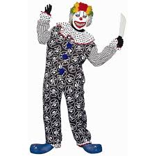 scary clown costumes s scary clown costume size standard 42 46