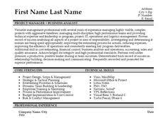 Business Analyst Resume Samples by Click Here To Download This General Manager And Business Analyst