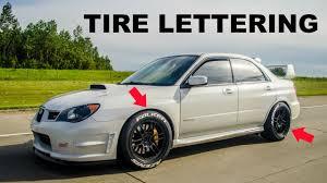 subaru decals how to install tire letters tire stickers 2007 subaru sti