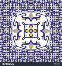 Tile Floor In Spanish by Portuguese Tiles Floor Vintage Pattern Vector Stock Vector
