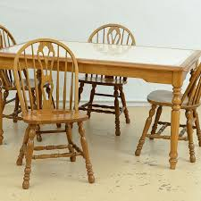 cochrane dining room furniture cochrane dining table and six chairs ebth
