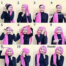 tutorial hijab pesta 2 kerudung 30 cara memakai jilbab pashmina modern dan simple fashion muslim