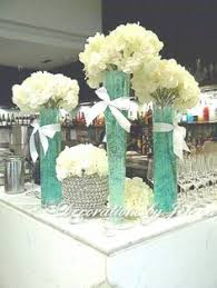 Sweet 16 Table Centerpieces Silk Flower Centerpieces Tiffany Themed For Bridal Shower Sweet 16