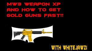 tutorial hack mw3 how to get gold guns fast mw3 gold gun hack youtube