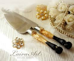 wedding cake servers gold black wedding cake server set knife cake cutting set
