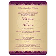 Housewarming Invitation Cards India Wedding Invitation Hindu Ganesh Purple Fuchsia Gold Scrolls Stars