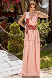 inpuff rochii rochie lunga lycra cu broderie florala