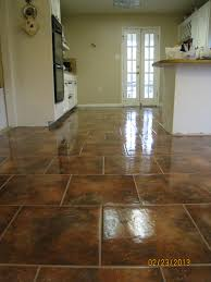 This Is A Picture Of My Kitchen And Dining Room Had My Floors - Dining room tile