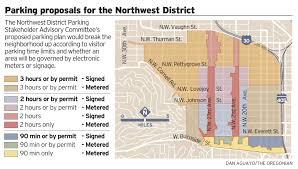 Map Of Portland Oregon Neighborhoods by Northwest Portland Neighborhood Could Get Parking Meters Shorter