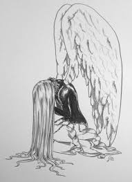 gallery pencil drawings of angels crying
