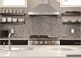 Modern Kitchen Countertops And Backsplash Comfy Modern Brown Kitchen Cabinet Glass Mosaic Backsplash Tile
