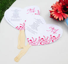program fans for wedding ceremony diy designer wedding fan program kit fan wedding programs