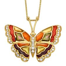 butterfly gold necklace images Butterfly gold inlay pendant necklace kabana jpg