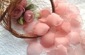 Pink Vase Fillers Dusty Pink Organza Rose Petals Wedding Decoration Bridal Petals