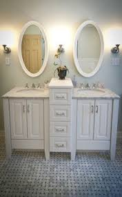 Bathroom Double Sink Cabinets by How To Get Two Sinks And Storage In A Small Bathroom For The