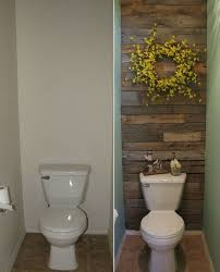 small toilet this small toilet room got an excellent makeover with pallets http