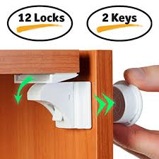 baby locks for cabinet doors amazon com baby proof magnetic cabinet locks for child safety 12