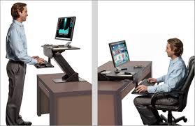 Computer Stand For Desk Sit Stand Desk Adjustable Height Standing Computer Workstation