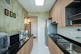 z l construction singapore kitchen cabinets topped with black
