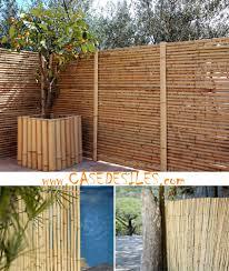 cloture de jardin pas cher bambou panneau régulier l2 h1 2 pas cher
