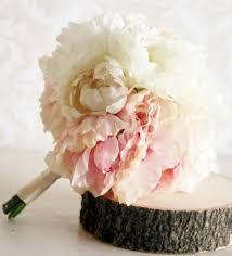 Shabby Chic Wedding Bouquets by Silk Bride Bouquet Peony Flowers Peonies Shabby Chic Wedding