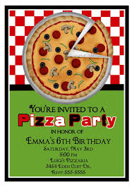 pizza birthday party invitations beautiful pizza birthday party