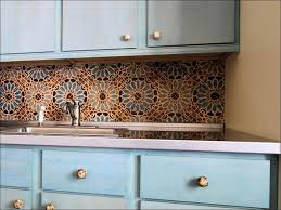 kitchen blue and grey backsplash red glass tile backsplash white