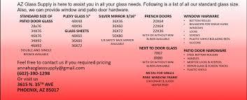 Standard Size Patio Door by Az Glass Supply 16 Photos Glass U0026 Mirror Shop 3615 N 35th
