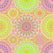 colorful hippie mandala seamless pattern stock vector image