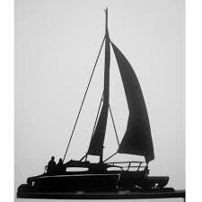 Nautical Weathervane Boat Weathervane Trimaran Design Black Fox Metalcraft
