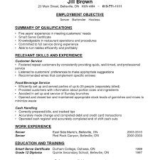 bartending resume exle bartender resume skills therpgmovie